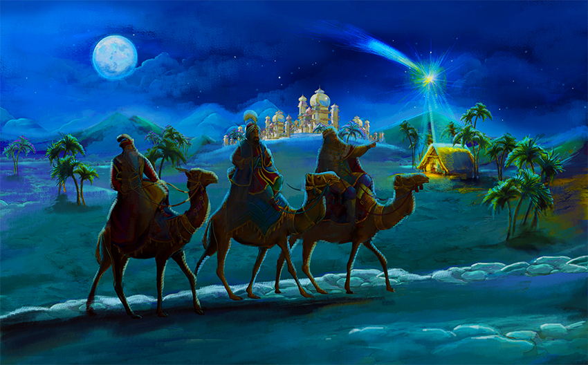 where were wisemen on christmas