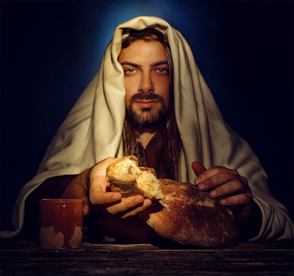 LDS Jesus Sharing Bread On Passover