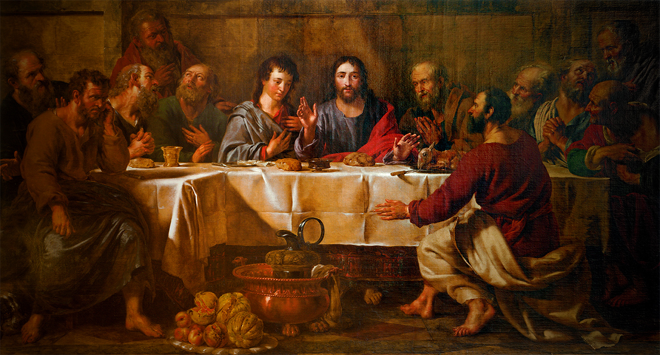 Brussels June 21 Paint Of Last Supper Of Christ In St