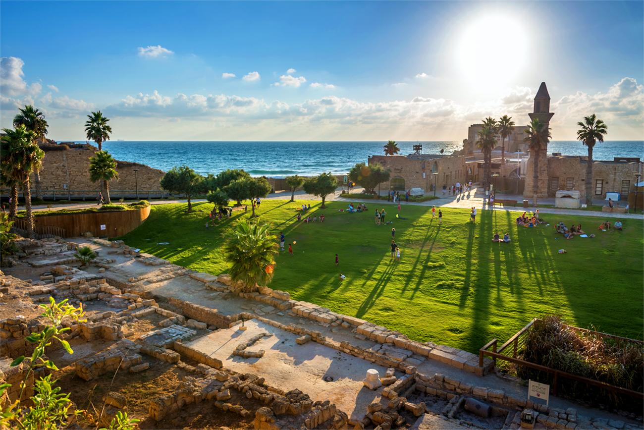 Caesarea Israel Beach LDS Tour