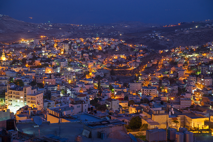 A Bethlehem Neighborhood In The Evening