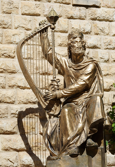A Statue Of King David In Jerusalem